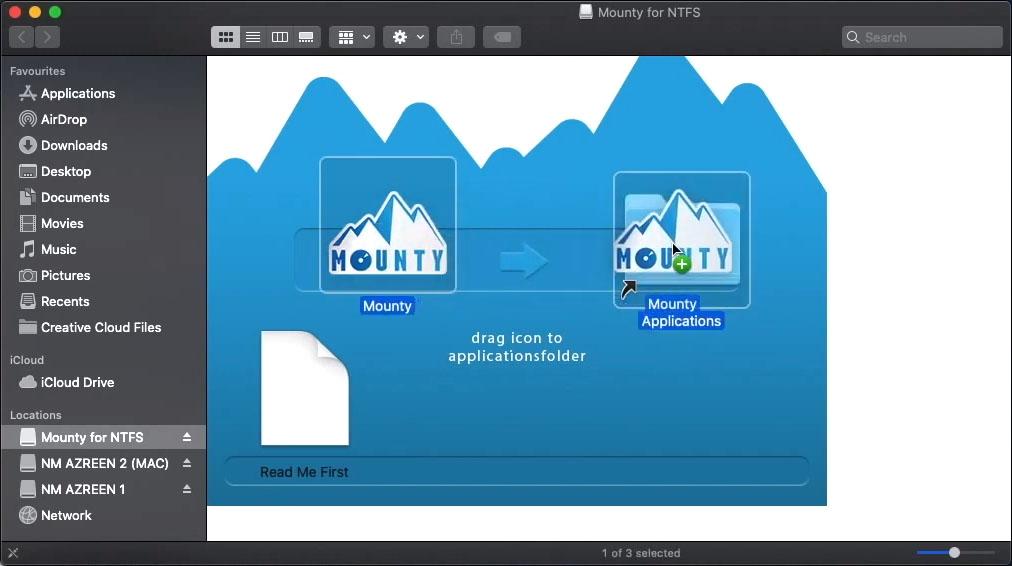 Cách chép dữ liệu từ Macbook vào ổ cứng bằng Mounty for NTFS